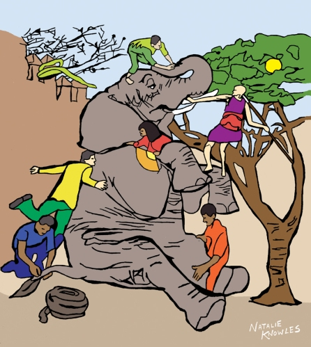 The Blind Men and the Elephant | © Natalie Knowles 2017