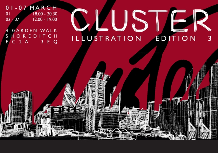 Cluster illustration exhibition March 2018