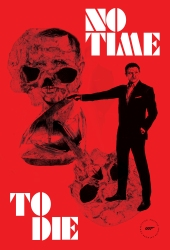 James Bond Red Poster By Natalie Knowles #notimetodie
